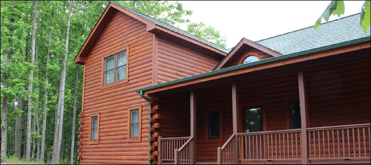 Log Home Staining